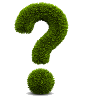 a grass question mark